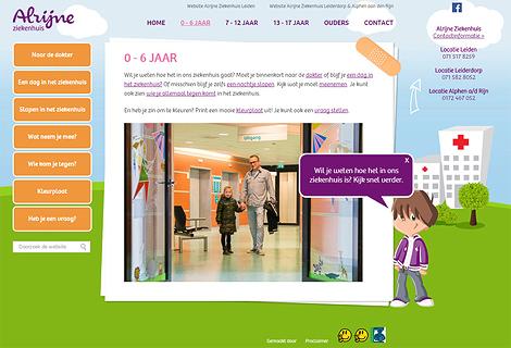 Speciale Website Voor De Kinderafdeling Van Alrijne Ziekenhuis