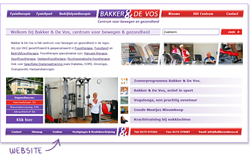 Website Bakker & De Vos