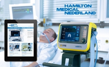Afbeelding Adembenemende website voor Hamilton Medical